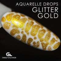 Сырье Aquarelle drops Glitter Gold